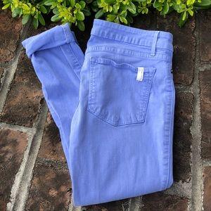 Ladies periwinkle skinny jeans